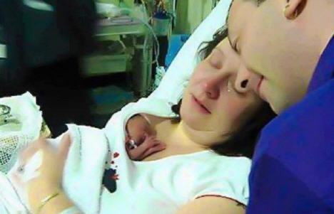 20oz baby up for dead ... but saved by mother's cuddle