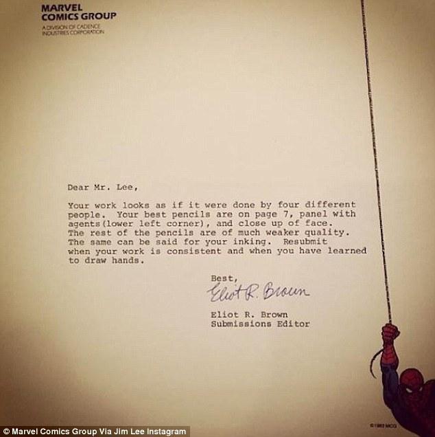 Jim Lee's rejection letter