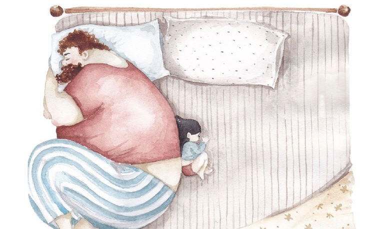 Heartwarming illustrations show beautiful daddy-daughter bond