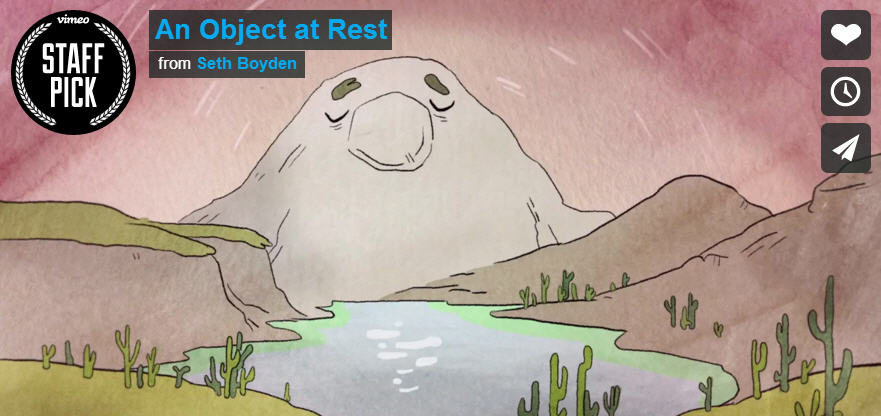An Object at Rest, an animation by Seth Boyden