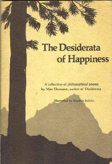 Desiderata of Happiness
