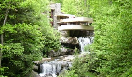 Fallingwater designed by Frank Lloyd Wright